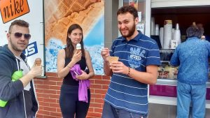 Odskočiť si na dobrú zmrzlinu nezabudol ani Patrik Gaša :)