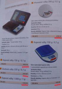Váhy z katalógu, v ktorom majú zakázané byť lacnejšie :)