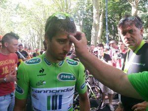 Peter a krížik na čelo od otca (foto: sportky.sk)